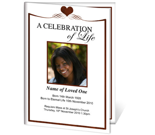 Cherish A4 Funeral Order of Service Template