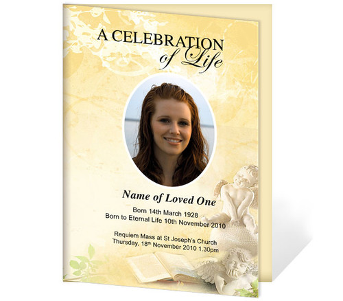 Cherub A4 Funeral Order of Service Template