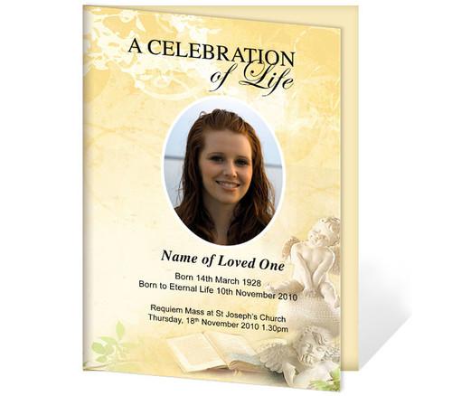 Cherub A4 Funeral Order of Service Template