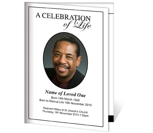 Classic A4 Funeral Order of Service Template