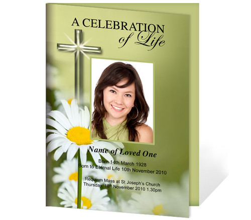 Daisy A4 Funeral Order of Service Template