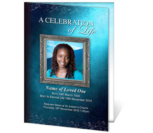 Devotion A4 Funeral Order of Service Template