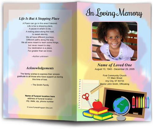 school Funeral Program Template