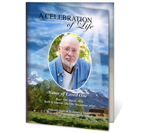 Outdoor A4 Funeral Order of Service Template