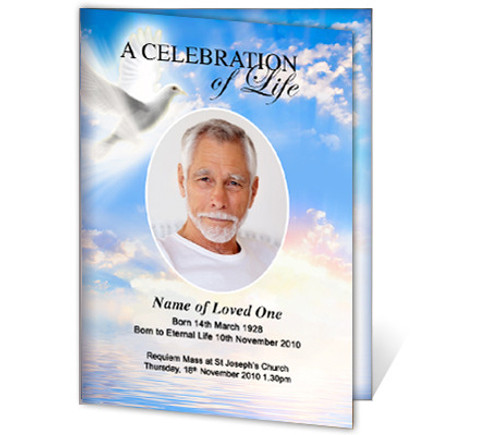 Peace A4 Funeral Order of Service Template