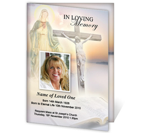 Vision A4 Funeral Order of Service Template