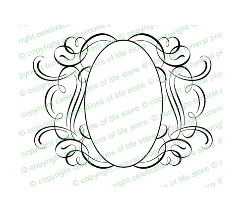 Andante Elegant Vector Flourish Border Template
