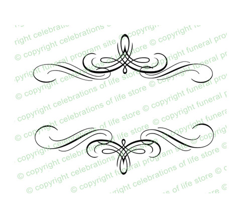 Arabesque Elegant Vector Flourish Border