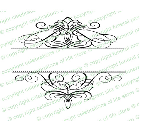 Capella Elegant Vector Flourish Border