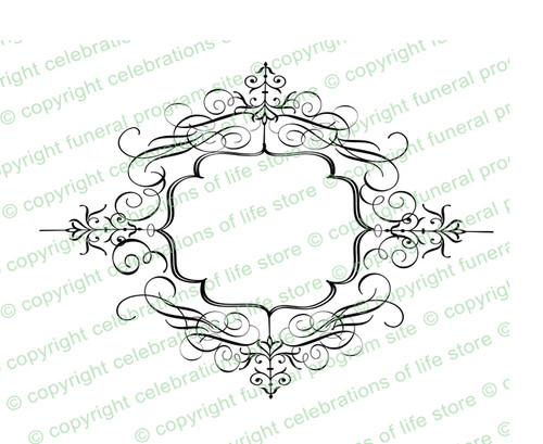 Champagne Elegant Vector Flourish Border