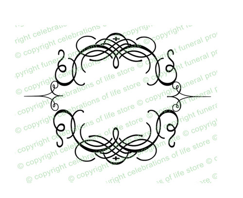 Florentine Elegant Flourish Frame Design