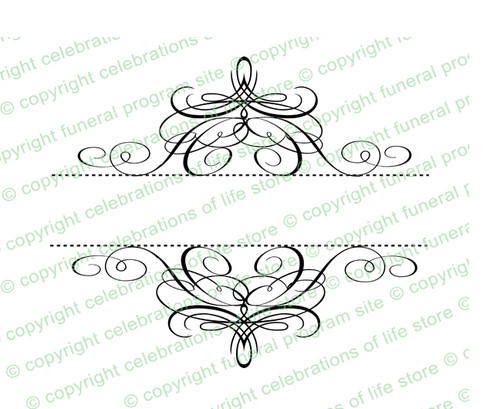 Minuet Elegant Vector Flourish Border