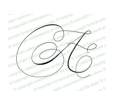 Script Monogram Letter A