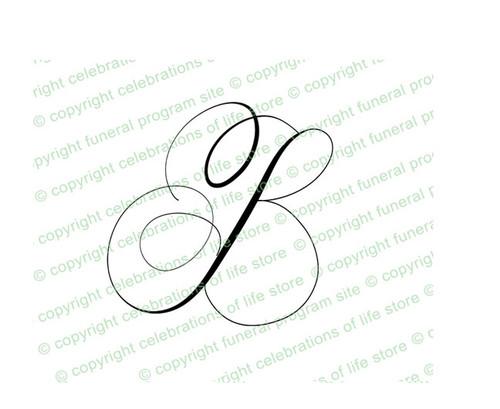 Script Monogram Letter B