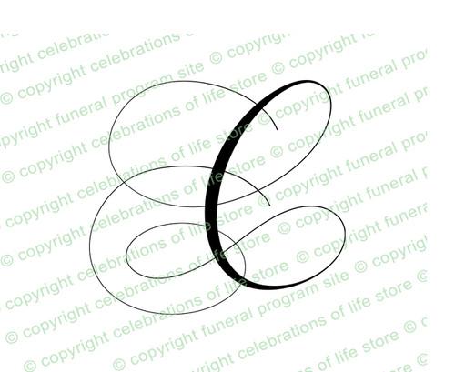 Script Monogram Letter C