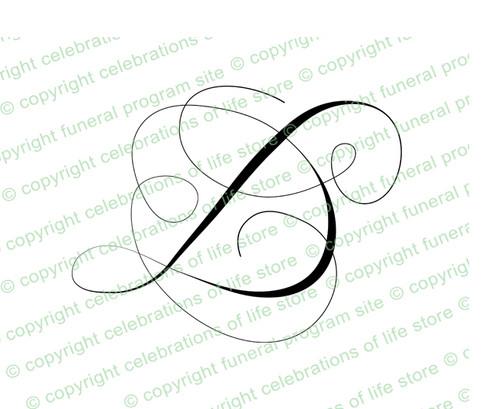 Script Monogram Letter D