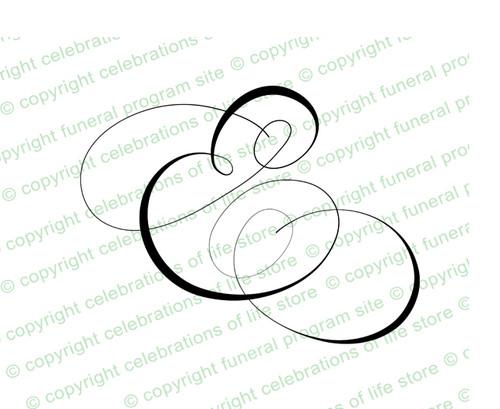 Script Monogram Letter E