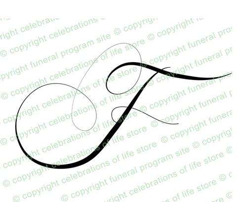 Script Monogram Letter F