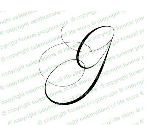 Script Monogram Letter G