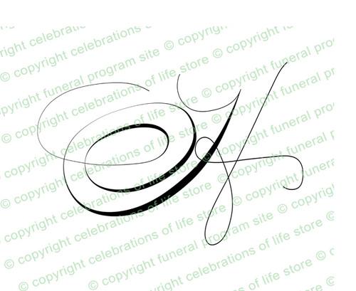 Script Monogram Letter H