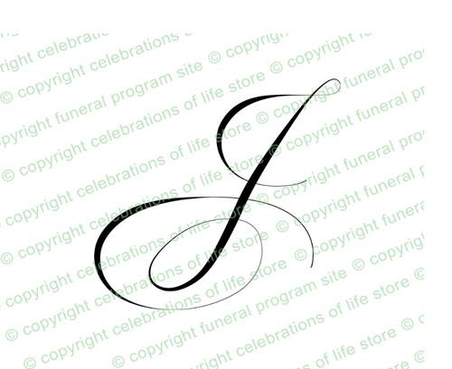 Monogram Letter J