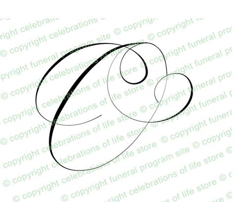 Monogram Script Letter O