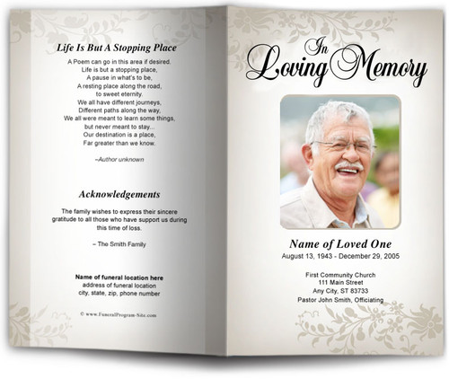 ceasar tan Funeral Program Template