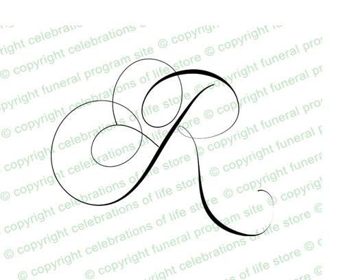 Script Monogram Letter R