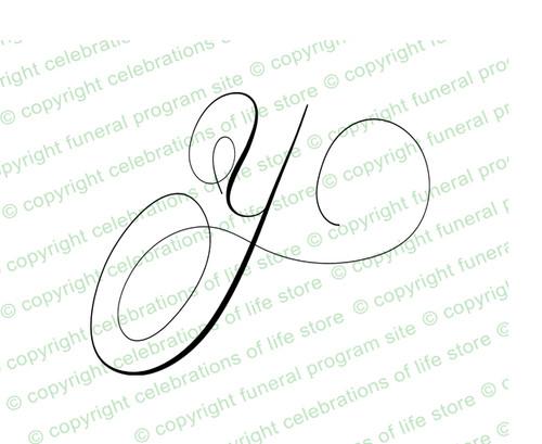 Monogram Script Letter Y