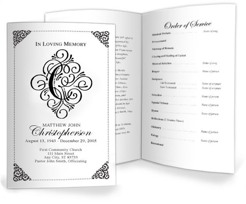 Funeral C Monogram Template