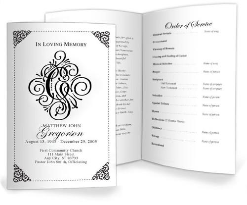 Funeral G Monogram Template