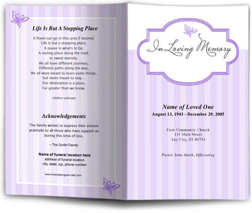 embrace lavender obituary template