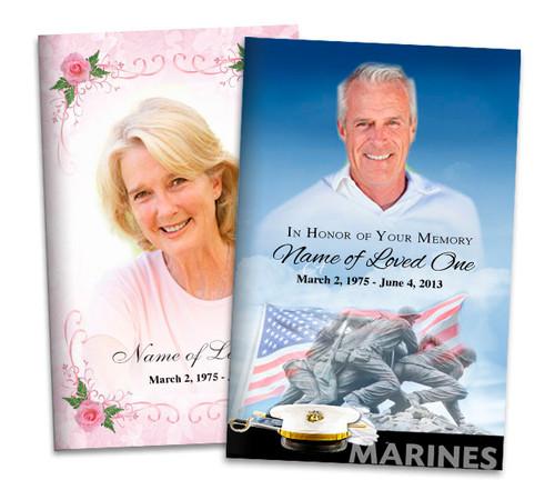 Custom Cover Letter Bifold Funeral Program Templates