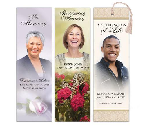 Custom Funeral Memorial Bookmark Template | Funeral Template