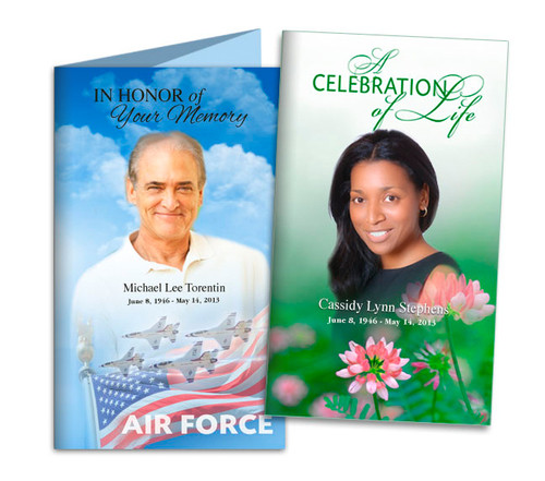 Custom Funeral TriFold Brochure Template | Funeral Templates