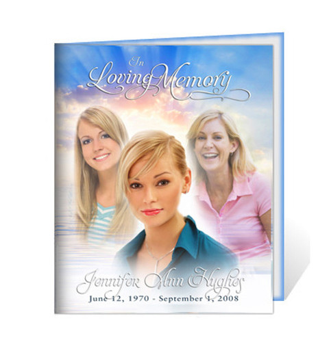 Custom Legal Single Fold Booklet Template | Funeral Template