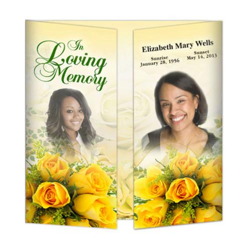 Custom Memorial Funeral Gatefold Program Template