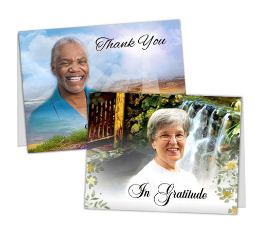 Custom Thank You Card Template | Funeral Templates