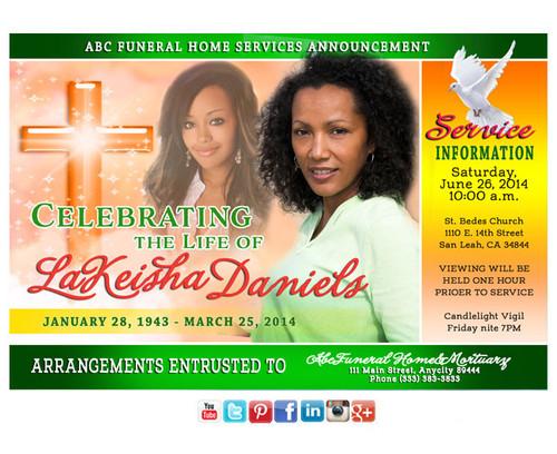 Adoration Funeral Service Social Media Announcement