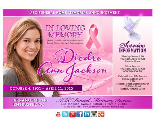 Awareness Funeral Announcement Social Media
