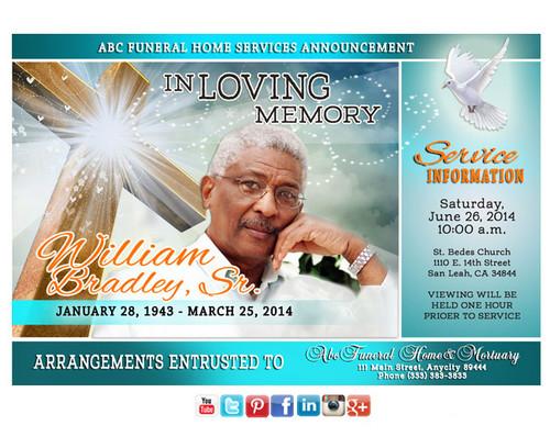 Eternal Funeral Announcement Social Media