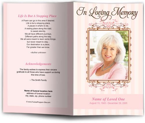 seraphina pink funeral program