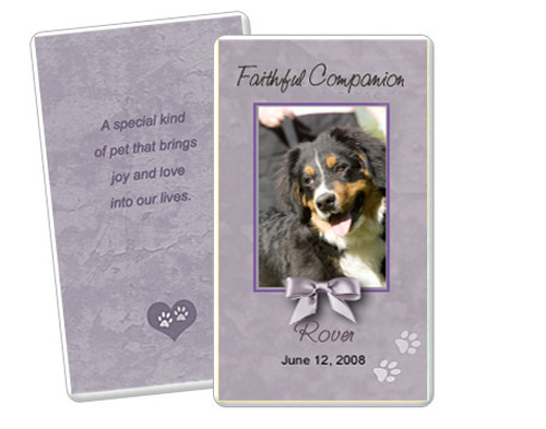 Gray Folded DIY Pet Memorial Card Templates