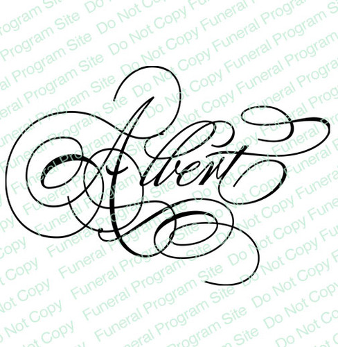 Albert Word Art Name Design