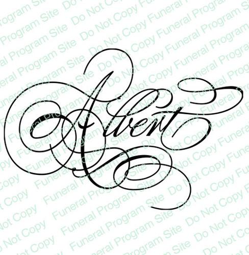 Albert Word Art Name Design
