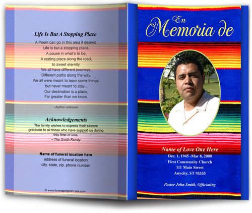 acapulco Funeral Program Template