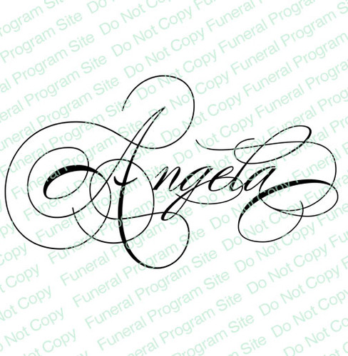 Angela Name Word Art Name Design Template