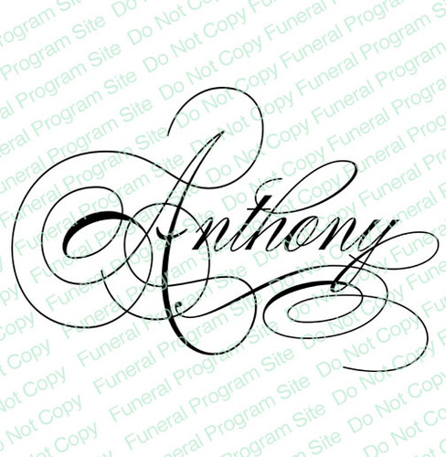 Anthony Name Word Art Name Design Template