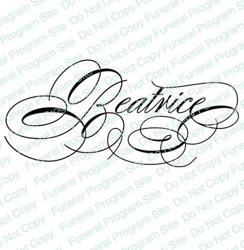 Beatrice Name Word Art Name Design Template