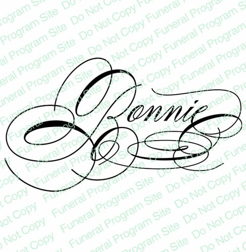 Bonnie Name Word Art Name Design Template